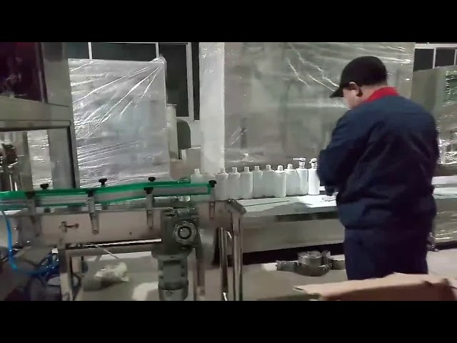 دستگاه خط بطری پر کردن الکل صابون دستی