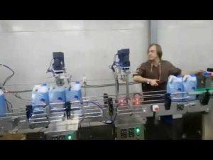 دستگاه توالت پاک کننده اتوماتیک ضد خوردگی خط دستگاه پر کننده مایع ضد عفونی کننده