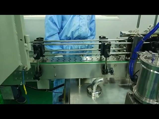 دستگاه پر کردن و پیچ دو طرفه 30 میلی متر تا 100 میلی لیتری برای بطری گرد