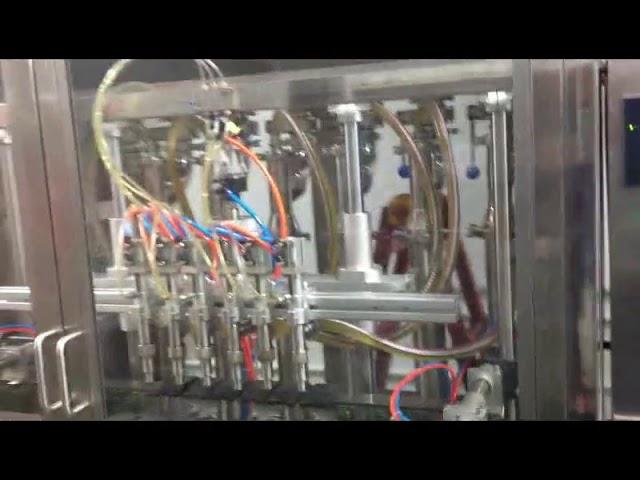 بطری های شیشه ای اتوماتیک دستگاه پر کننده روغن زیتون